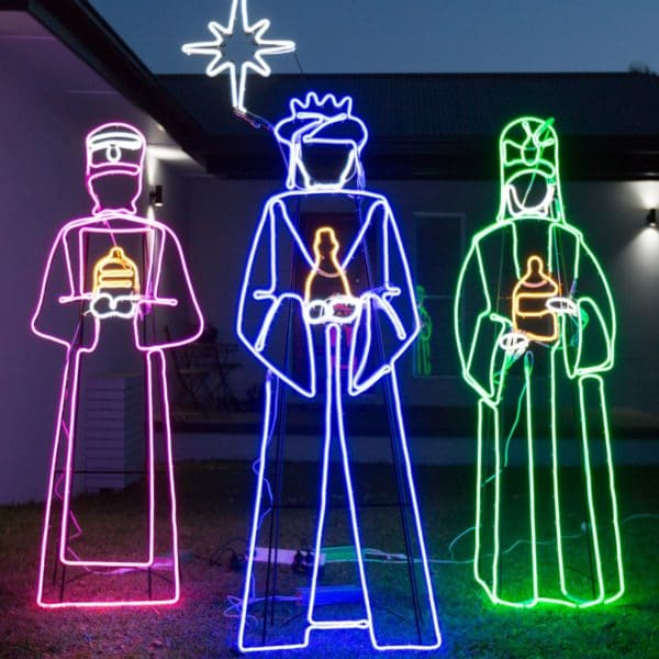three wise men christmas lights